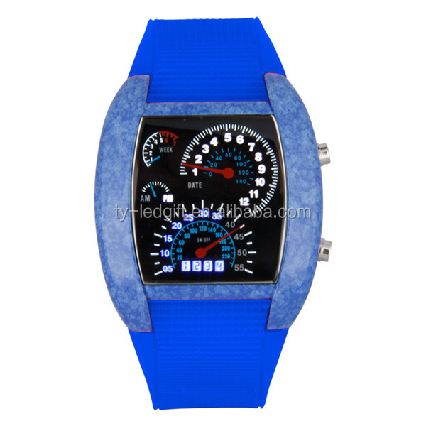 Digital Sports Flashing LED Watch Gift Silicone LED Wrist Watch