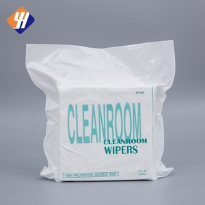 100% Polyester Laser Sealed Lint Free Clean Room Wipers