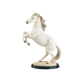 Customized Color Resin White Horse Animal Figure For Decoration