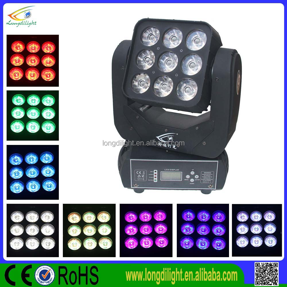 Martin moving head lights 9*10W RGBW 4in1 LCD display dj lighting effects