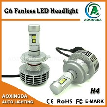 6000 lumen 6th generation 6G all in one auto led headlight bulb H4 H13 9004 9007 H7 H8 H11 H16
