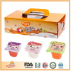 Promotional Gift Set for Snack Distributor Assorted Mini Cup Fruit Yogurt Pudding Biscuits Confectionery