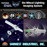 Best Car Product to showoff !OWL-Automotive LED On-wheel Lighting Imaging System WL-1502R & WL-1702R