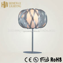 Top grade ultra thin brightness adjustable table lamp red CE approvalacrylic shade and chromed iron boby