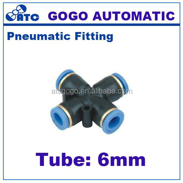 cross joint 6mm 4 way pipe fitting
