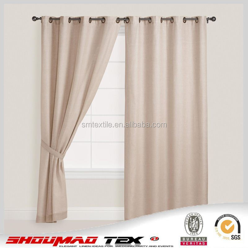 Hotsale good quality natural linen shower curtain