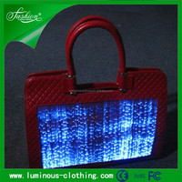 fiber optic clothing luminous led light up fashion bags handbags ladies 2015