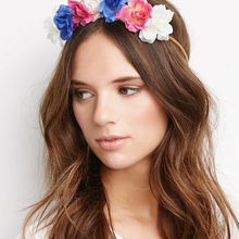 Summer beach flower headband , artificial flower crown