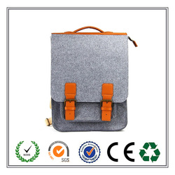 China supplier custom fashion students bag practical felt backpack
