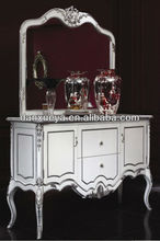 dining room dish cabinet wood sideboard with mirror/dining room wooden sideboard cabinet/dining room furniture