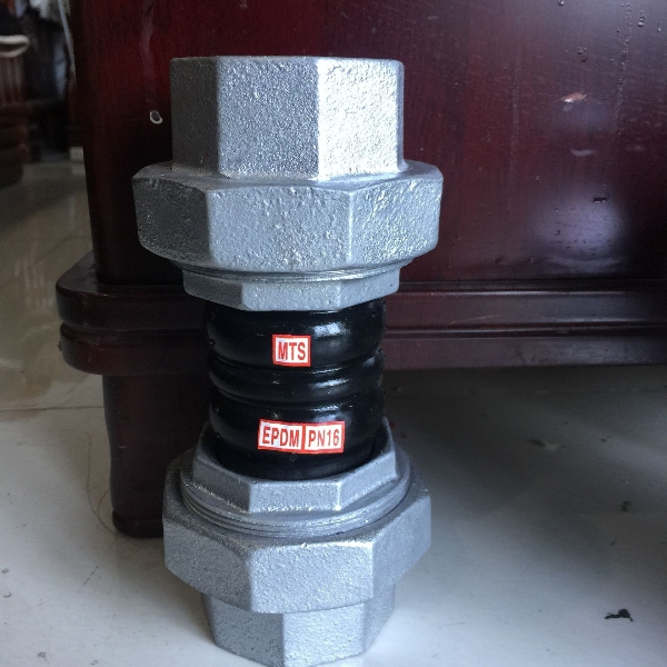 PN10/16 galvanized single ball rubber bellows pipe joint