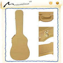 hot sale musical instrument Hardshell Wood Tweed Yellow Covering double bass electric Classical Guitar hard Case