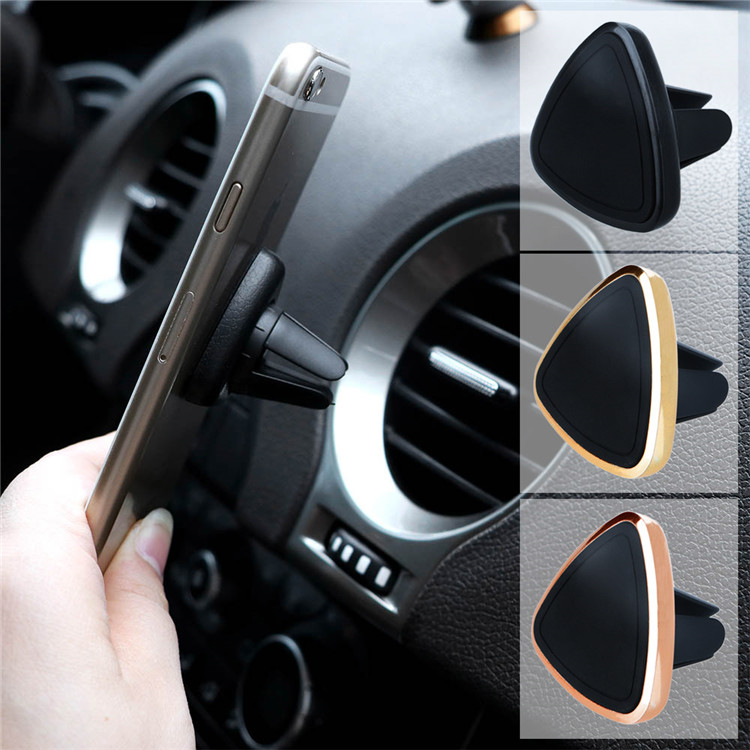 Factory Price Triangle Rotatable Magnetic Air Vent Car Mount Mobile Cell Phone Holder For Smartphones