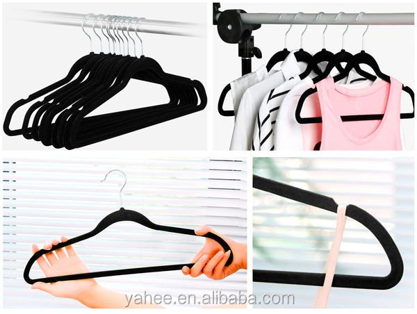 Velvet Hangers Flocked Suit Hangers Non Slip Swivel Hook