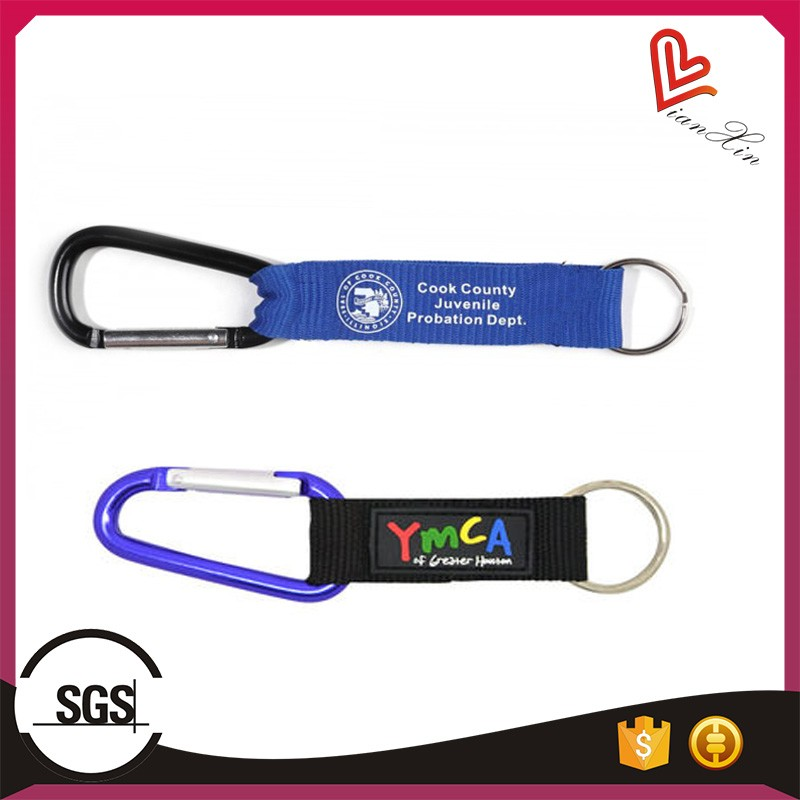 Hot sale carabiner hook short lanyard strap