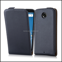 Magnetic Genuine Real Flip Leather Case Wallet Cover for Motorola Nexus 6