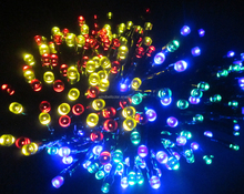 Solar garden lights LED color tree light chain