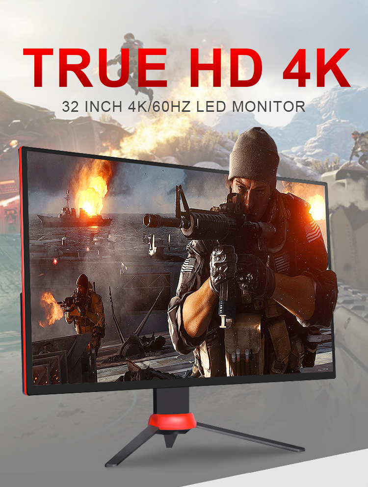FCC certificated lifting bracket gamut sRGB100% freesync ips 4k pc monitor gaming 32 inch with HDR mode