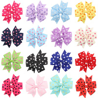 Bow Hairgrips Sweet Baby Girls Solid Whole Wrapped Safety Hair Clips Kids Hairpins