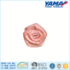 Various solid color taffeta edge polyester ribbon flowers silk