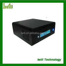 Iwill HT100 factor mini itx type rack small aluminum computer chassis/mini itx htpc empty case without power supply/HD host case