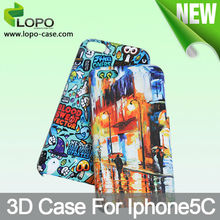 Hottest Custom sublimation 3D phone case for iphone 5C