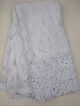 White color Cheap african nigerian tulle lace fabrics french net fabric high quality 5 yards J705-2