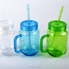 FDA foodgrade BPA free 20-23cm Reusable Plastic AS Drinking Straw Various colors For Party Wedding Mason Jar