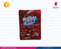 foil lined chocolate snack food packaging three side seal bag