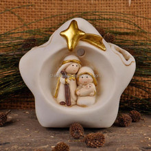 Star-shaped nativity figurines religious statue wholesale