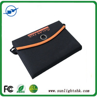 Solar Charger+14W Mono Fodable Solar Panel+Dual USB Output+Waterproof Solar Rechargeable Folding Bag