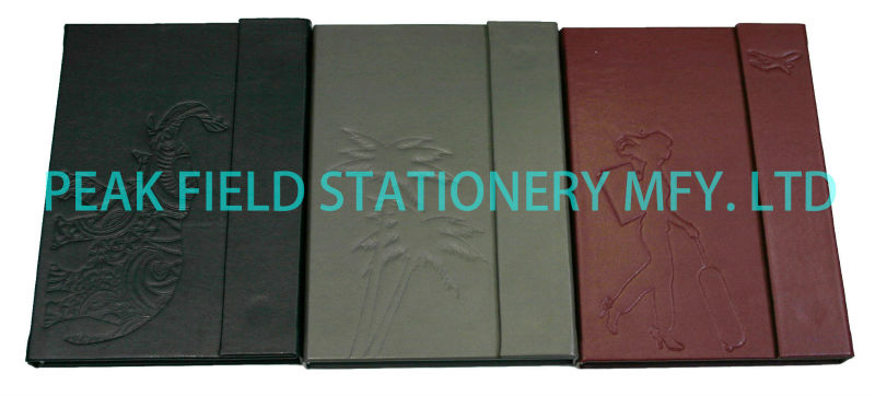 Embossed PU note book