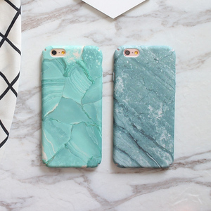 For iPhone 8 case, Hard plastic green marble pc cell phone case for apple iPhone 8 7 plus 6s 6