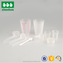 China Fabricage Groothandel Fabriek Direct 20 ml Meet Cup Plastic Maatbekers & Lepel Set