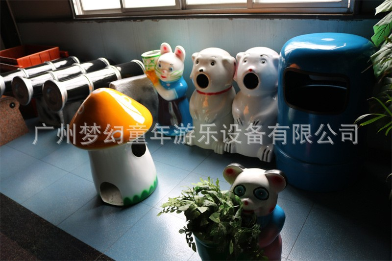 FRP animal shape trash can recycle bin