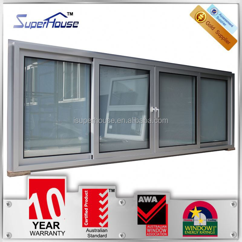 Australia AS2047 standard 10years warranty commercial tinted glass horizontal electric sliding window