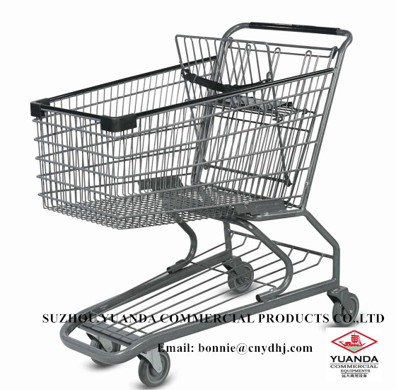 European style big size 240L supermarket shopping trolley for sale