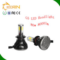 high lumen 4000lm 8000lm 12v/24v 9-36v auto car led headlight h4 h7 h13 9004 9007 super waterproof IP67 8000lm led headlight