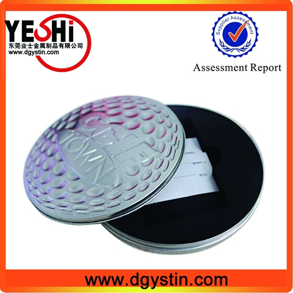Custom Print plain metal round CD or DVD tin case wholesale
