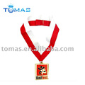 metal medal badge with lanyard