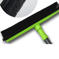 Broom with Squeegee made from Natural Rubber