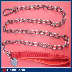 Ordinary Dog lead With Nylon Handle/PVC Handle ,High Test twist link for dog chain