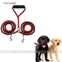 Dual Dog Leash No Tangle Adjustable Leashes For 2 Dogs With Swivel