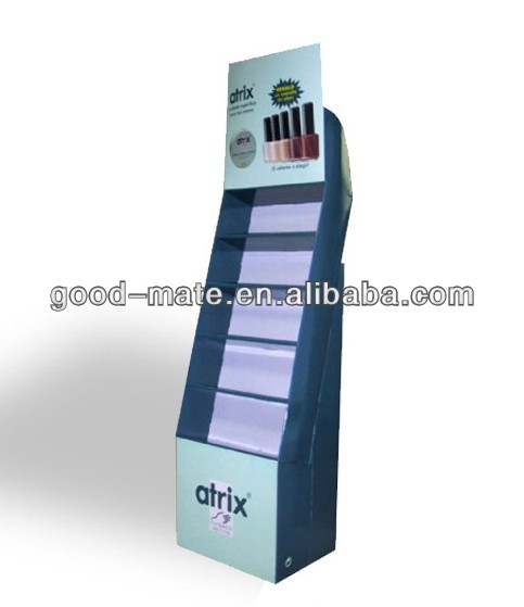 POS Corrugated Paper Counter Cardboard Display for Opi Nail Polish