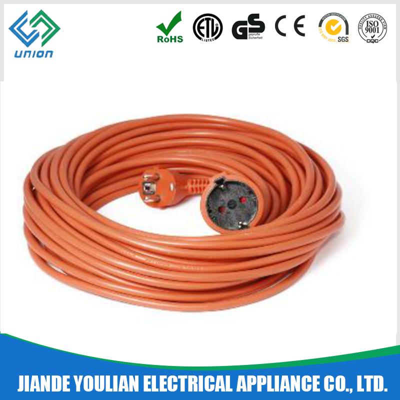 16A ac power cord extension cable PVC material