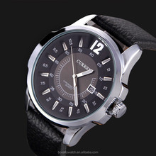 High quality curren watch for men low price wholesale customs japan movt diamond quartz watch
