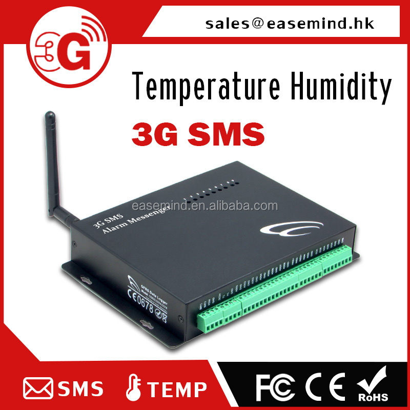 3G SMS data logger alarm for server room monitoring Temperature Humidity
