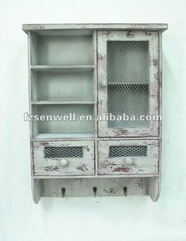 shabby chic kitchen wall cabinet for seasoning view With best brand of paint for kitchen cabinets with shabby chic candle holder
