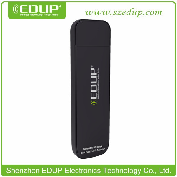 Wholesale distributor Ralink RT3572 Chipset USB Wireless Adapter 600Mbps Dual Band 2.4G&5G with CE FCC EP-DB1301