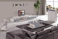 2014 Simple style modern tv wall unit was made from E1 MDF board and water oil painting for living room furniture